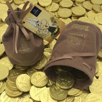 Leonidas Asterix Geldbeugel 200g Melkchocolade Munten