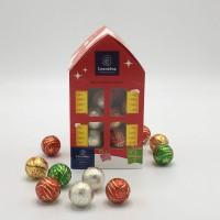Kersthuis Large met 40 kerstbollen +/- 480g