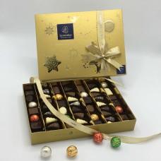 Geschenkdoos Kerst Goud met 51 pralines