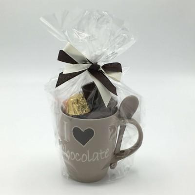 "Kopje met lepel ""Love Chocolate"" 250g Traditioneel gamma"