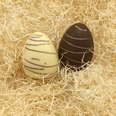 Paasei 50g Bicolor Melk Chocolade