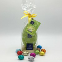Metalen Ei met 350g Paaseitjes in Geschenkzak
