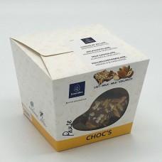 Choc's gebroken tablet 300g Melk/Amandel/Hazelnoten Geschenkthema