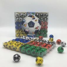 Voetballetjes 48 stuks in plexi +/- 565g